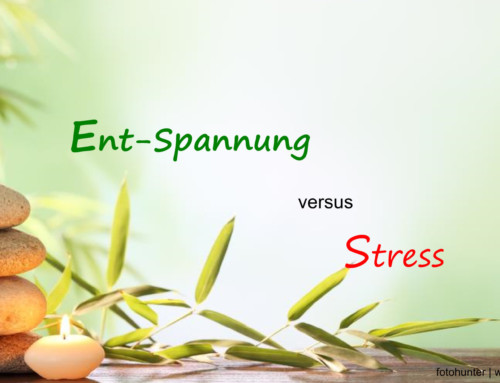 Entspannung versus Stress