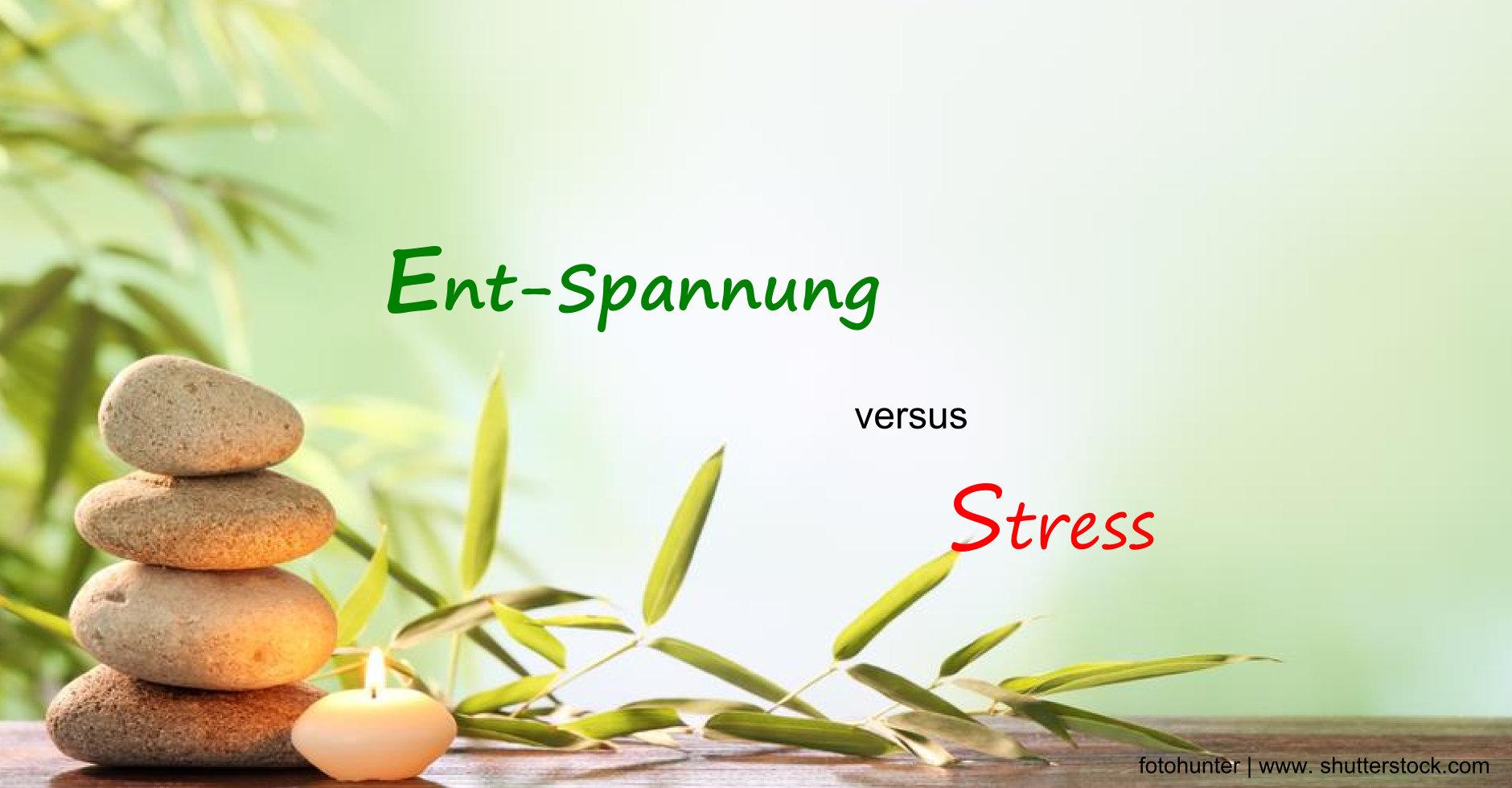 Entspannung und Wellness versus Stress