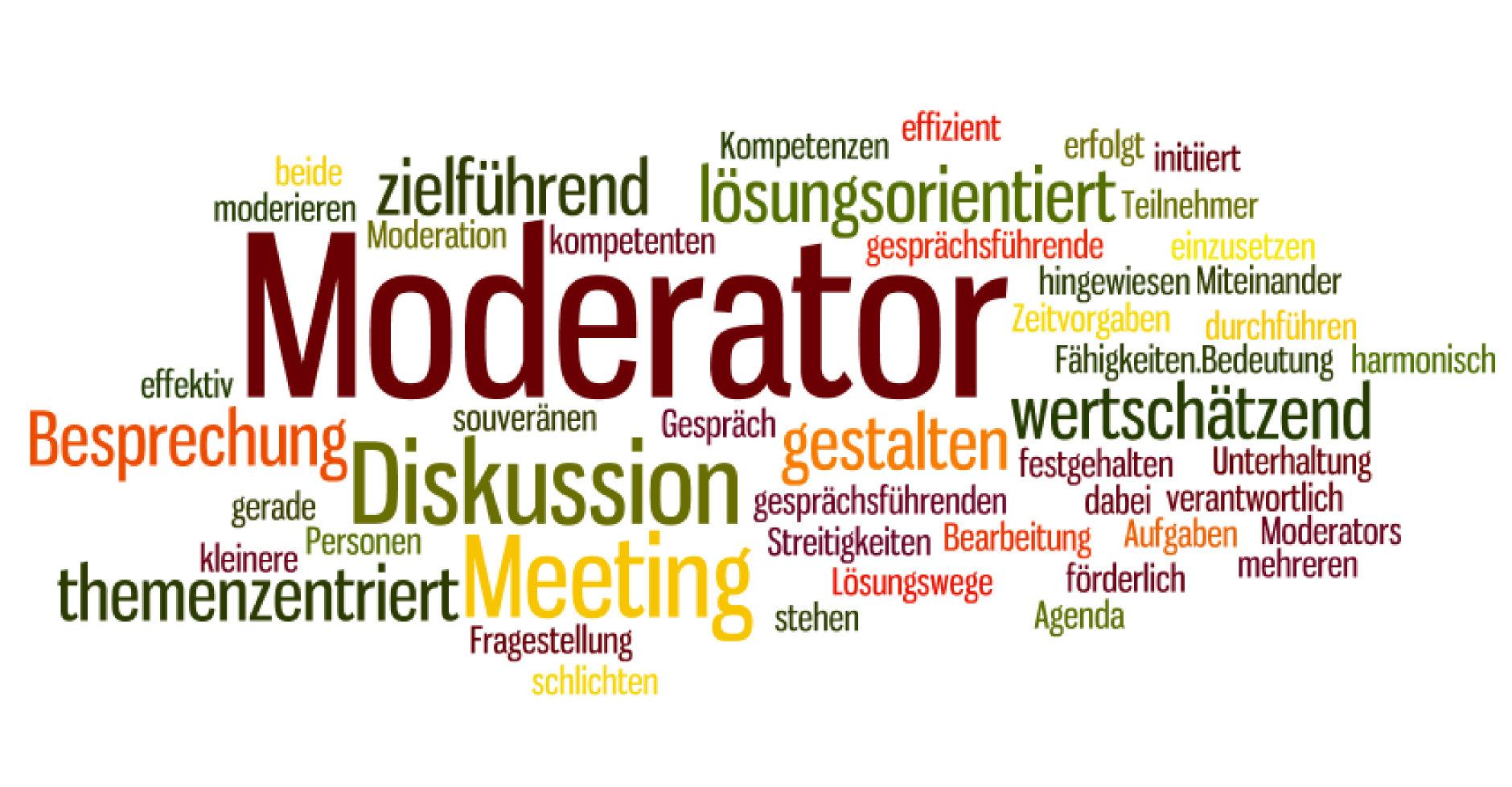 Zu den wichtigen Aufgaben eines Moderators gehört auch das aktive Zuhören.