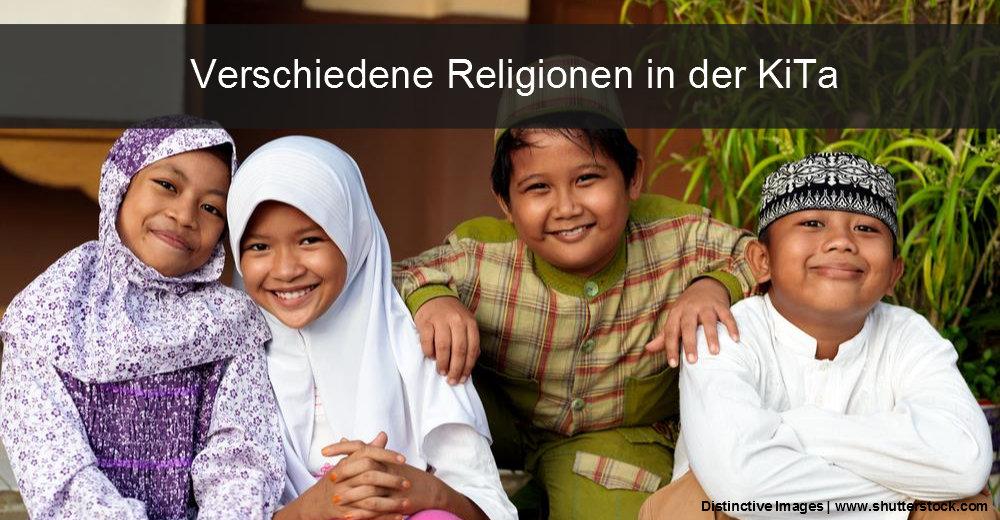 In den Kindergärten finden sich zunehmend Kinder, deren Familien verschiedenen Religionen angehören.