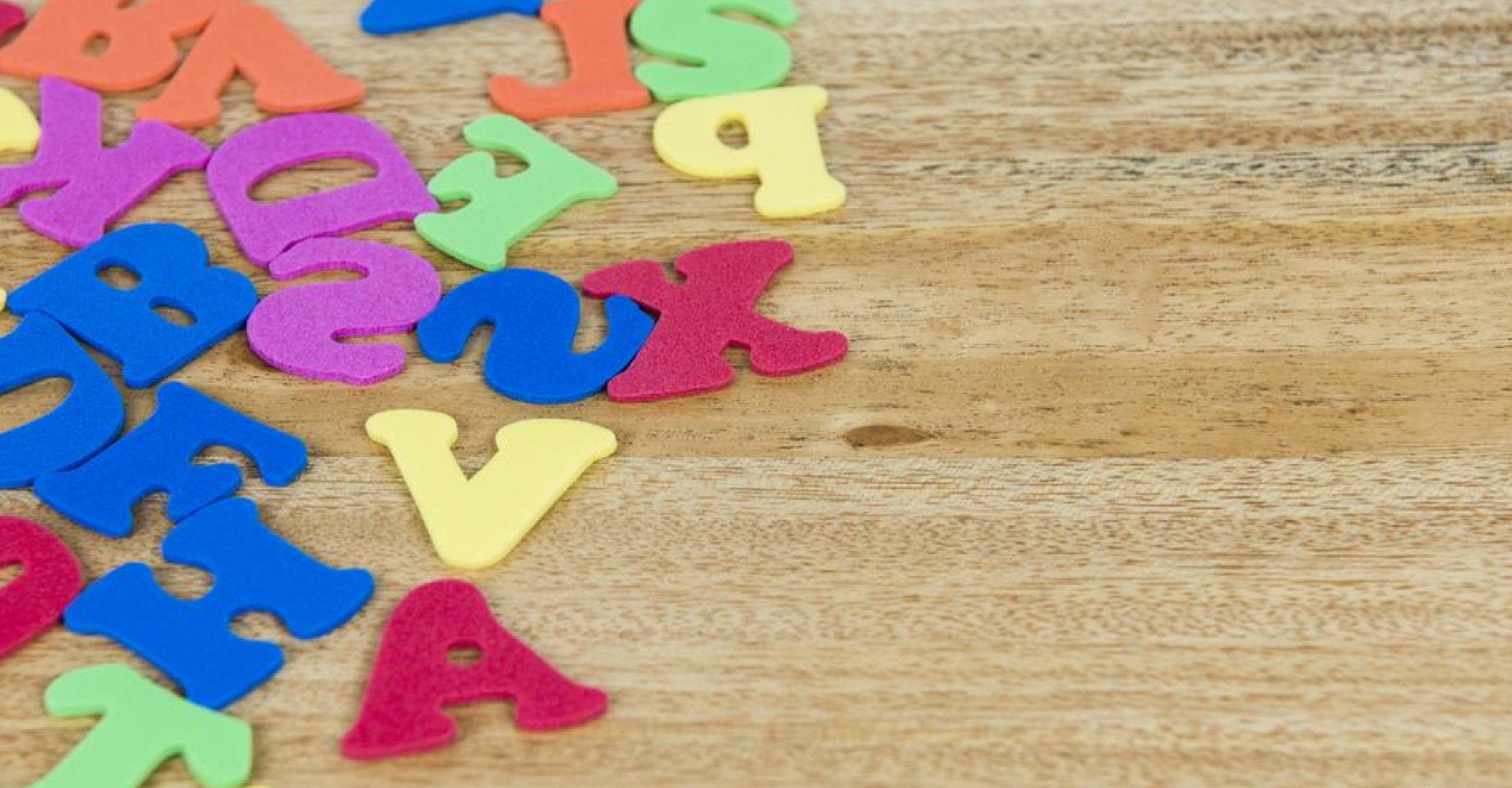 Bereits im Kindergarten kommen Kinder mit Buchstaben in Kontakt.